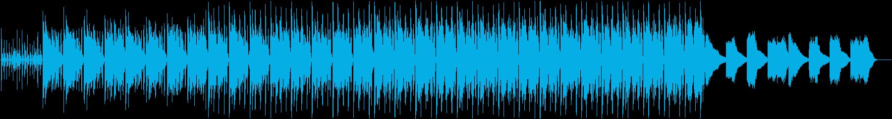 おしゃれなギター4つ打ちヒップホップ風曲の再生済みの波形