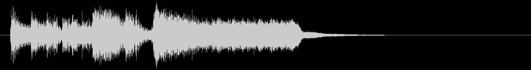 ド派手で盛り上がるサンバ系のサウンドロゴの未再生の波形