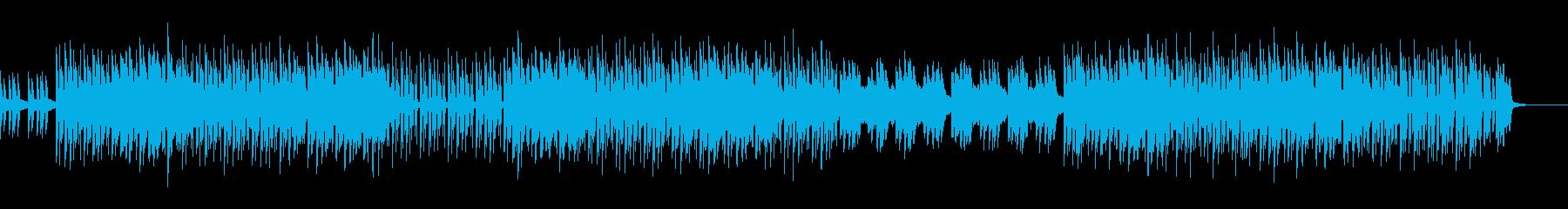 シンプルな元気の出るテクノロックBGMの再生済みの波形