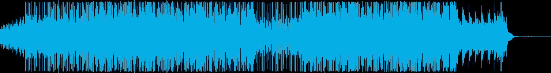 真夜中をイメージしたシンセウェイヴの再生済みの波形