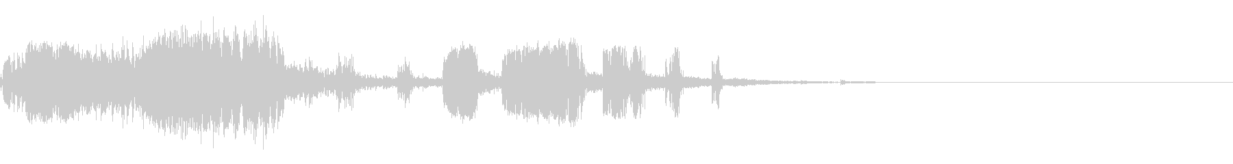 スパーク音-14の未再生の波形