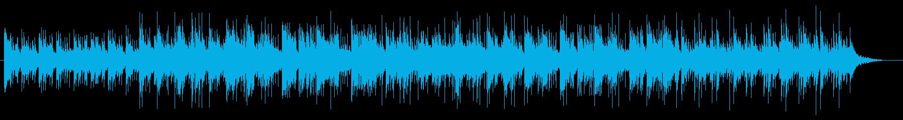 ナイロンギターの明るいリラックスBGMの再生済みの波形