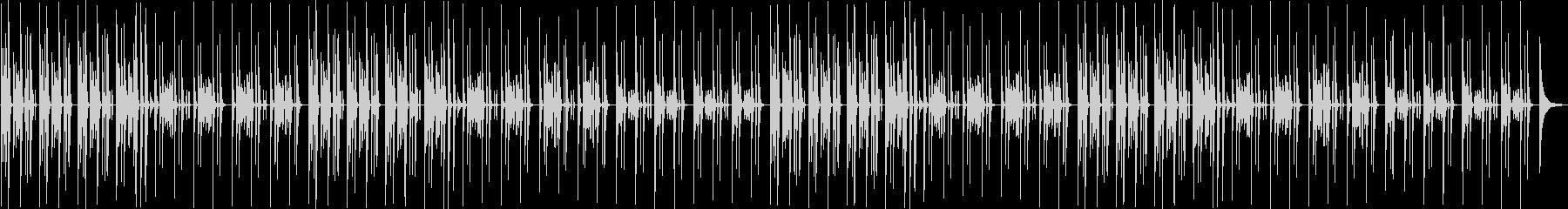 猫の昼寝・まったりピアノとリコーダーの未再生の波形