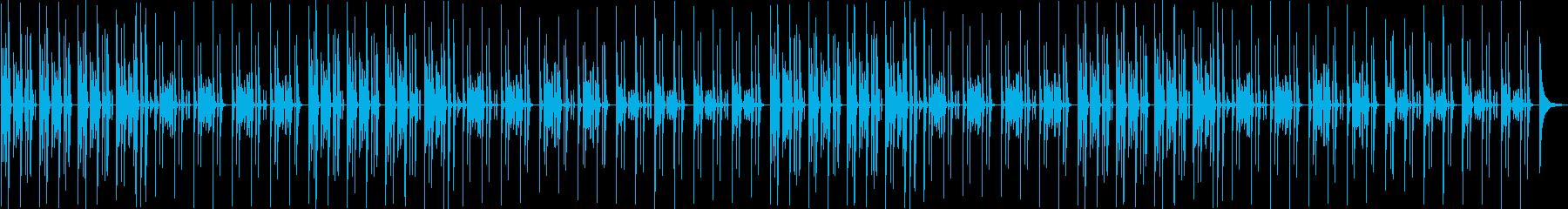 猫の昼寝・まったりピアノとリコーダーの再生済みの波形