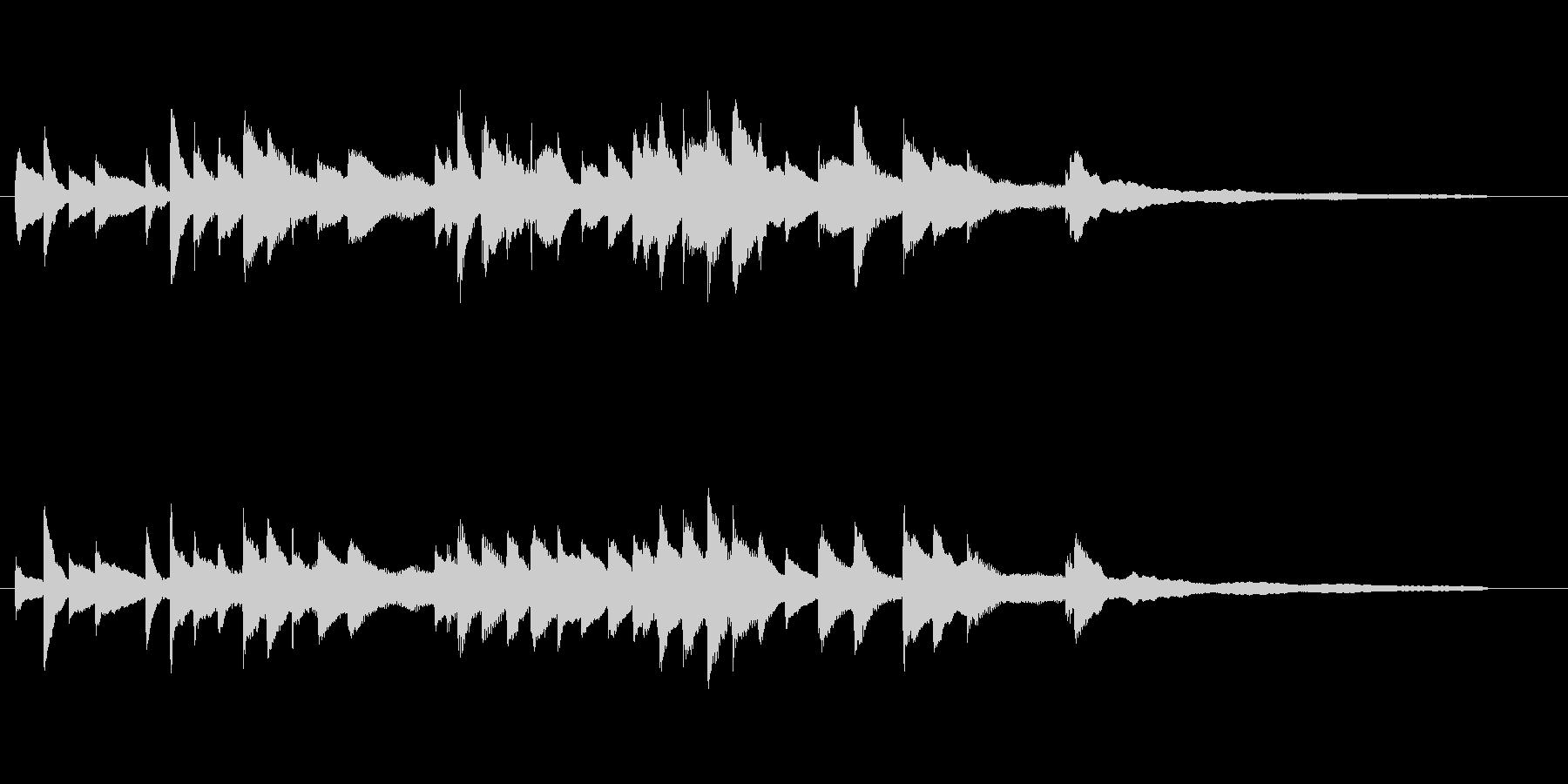 回想シーンに合うピアノソロの未再生の波形