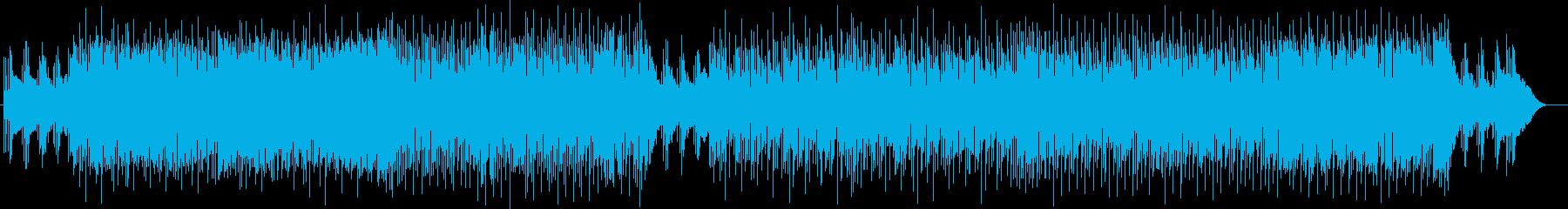 ファンシーなシンセポップスの再生済みの波形