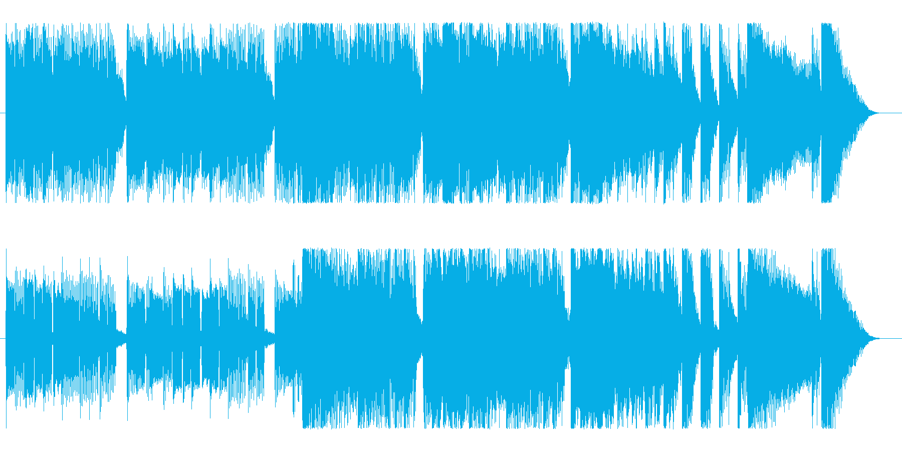 パワフル、ポジティブでアクティブなロックの再生済みの波形