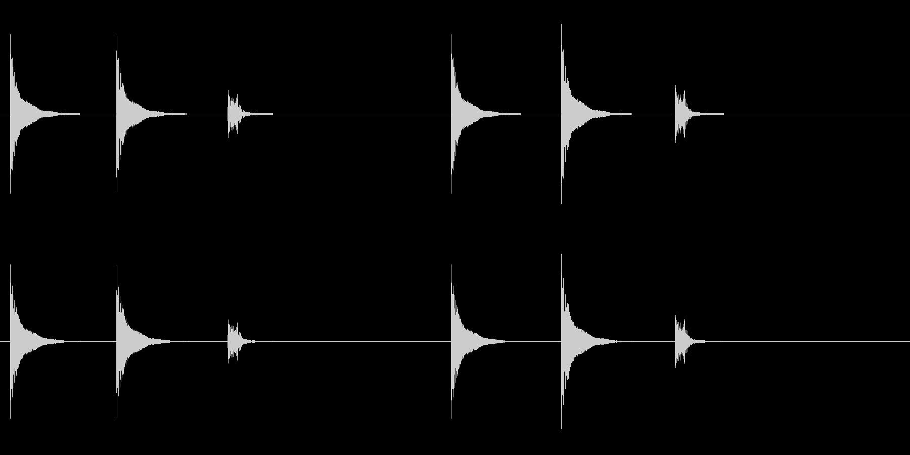 和太鼓の締太鼓のフレーズ音の未再生の波形
