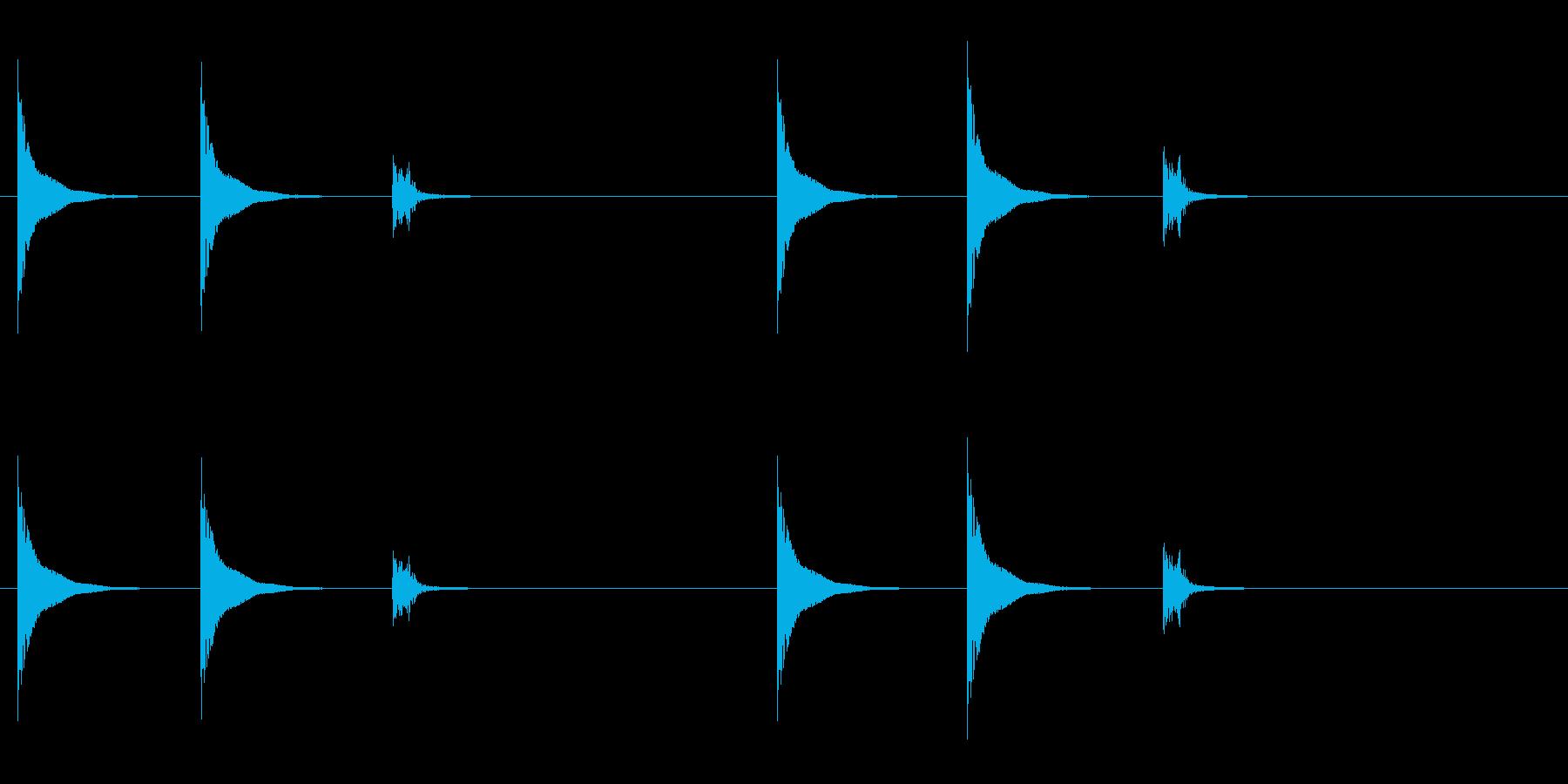和太鼓の締太鼓のフレーズ音の再生済みの波形