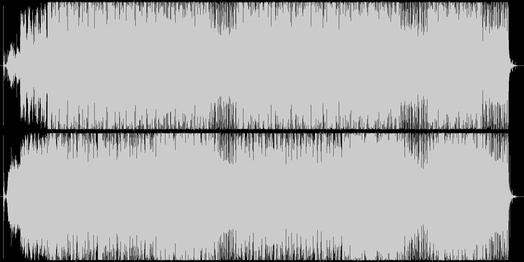サイレンとホーンの音を使ったビートの未再生の波形