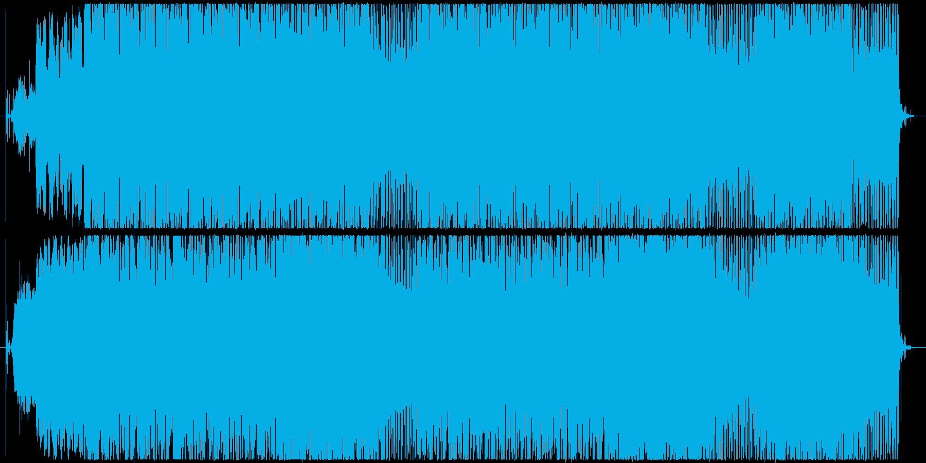 サイレンとホーンの音を使ったビートの再生済みの波形