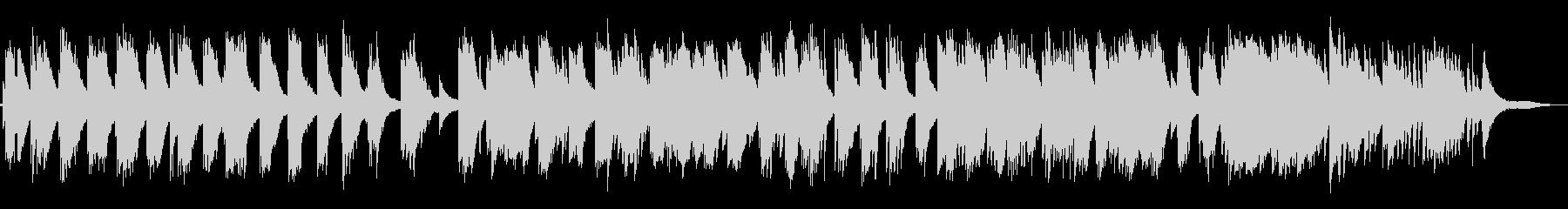 穏やかなピアノの未再生の波形