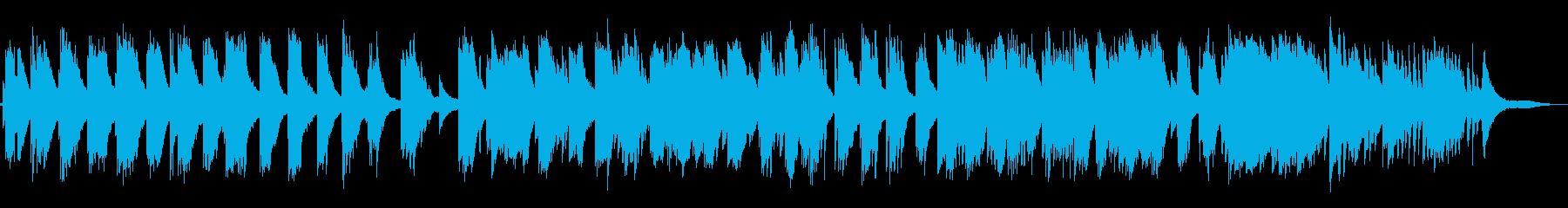穏やかなピアノの再生済みの波形