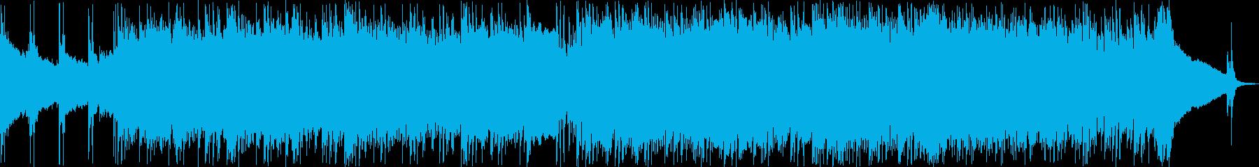 エレキギターが中心のテクノポップの再生済みの波形