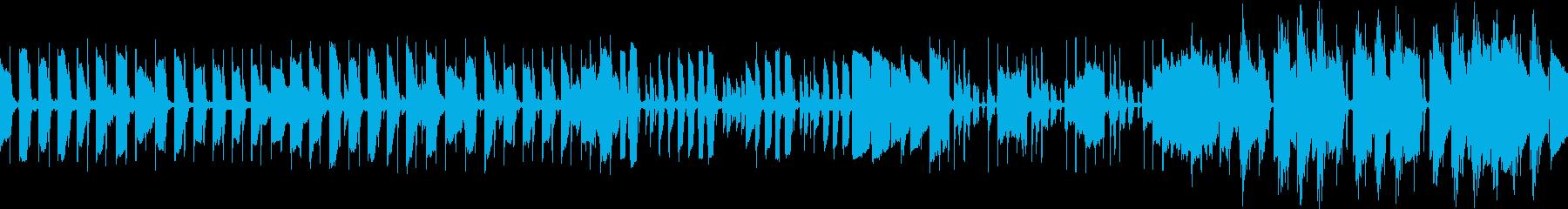 ベースが特徴的なメロディーの再生済みの波形