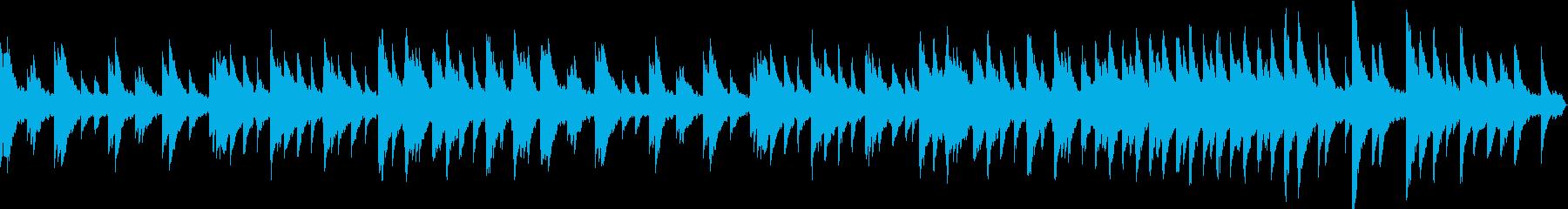 静寂、幻想的、ファンタジーなピアノ楽曲の再生済みの波形