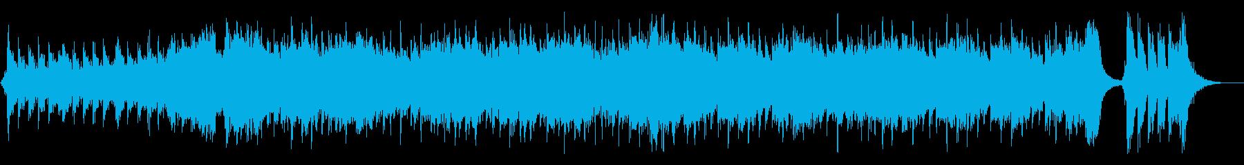 ファンタジー系ゲームの予告動画っぽい曲の再生済みの波形