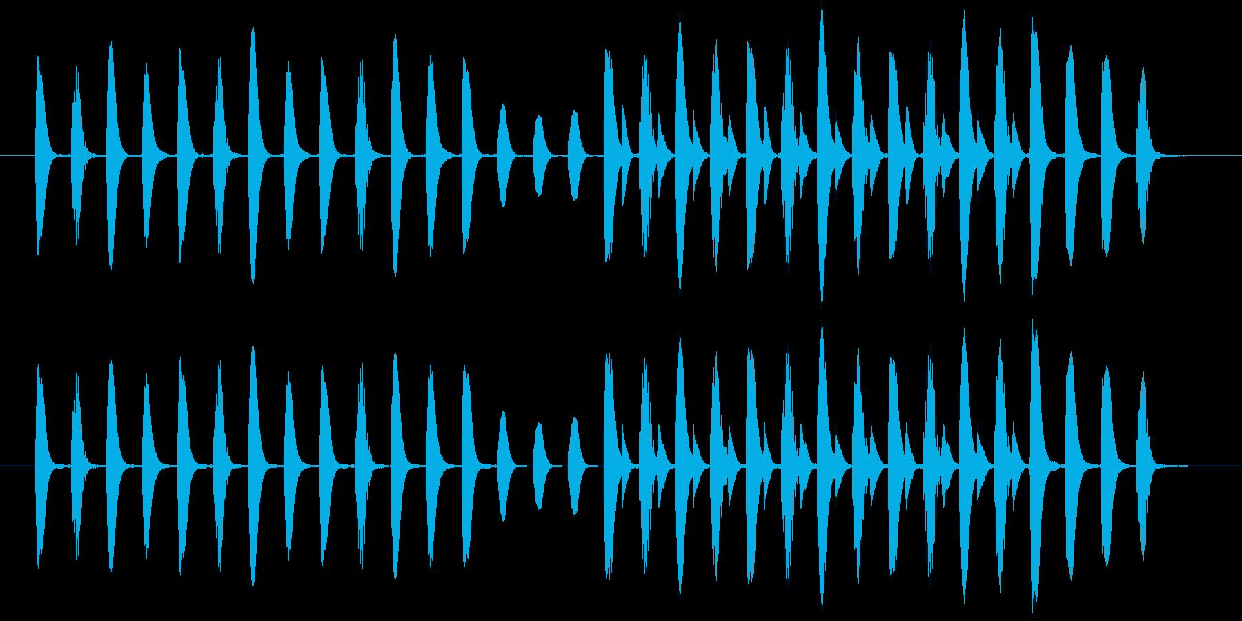 ほのぼのした場面切り替えなどに使える曲の再生済みの波形