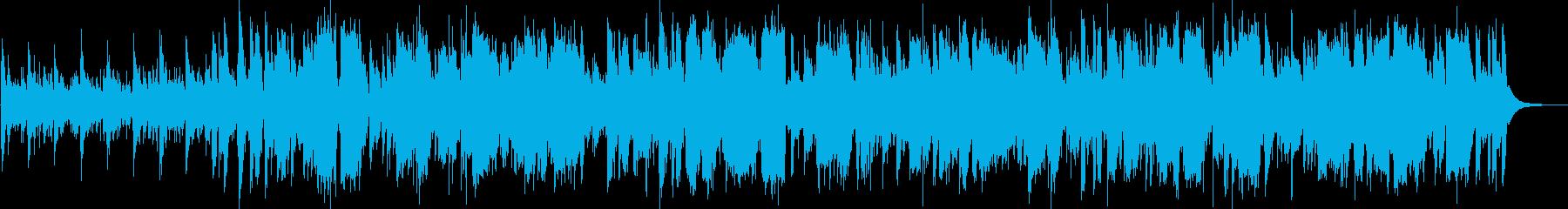 夕立の後の情景にあうフォークロックの再生済みの波形