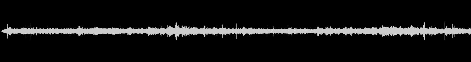 地下鉄の声の未再生の波形