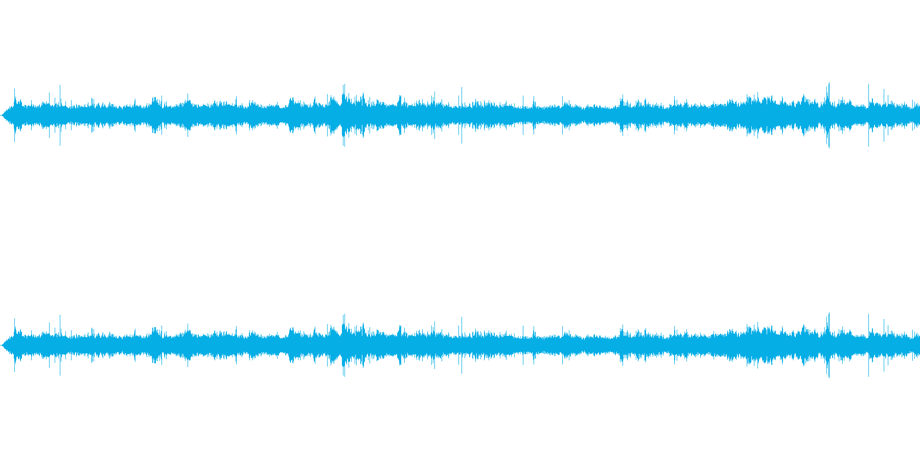 地下鉄の声の再生済みの波形