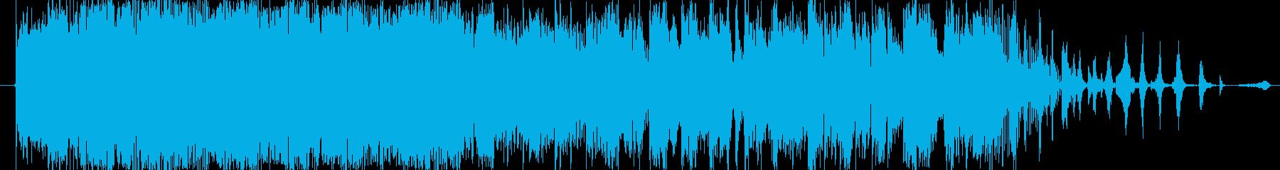 You Tube にぎやかなオープニングの再生済みの波形