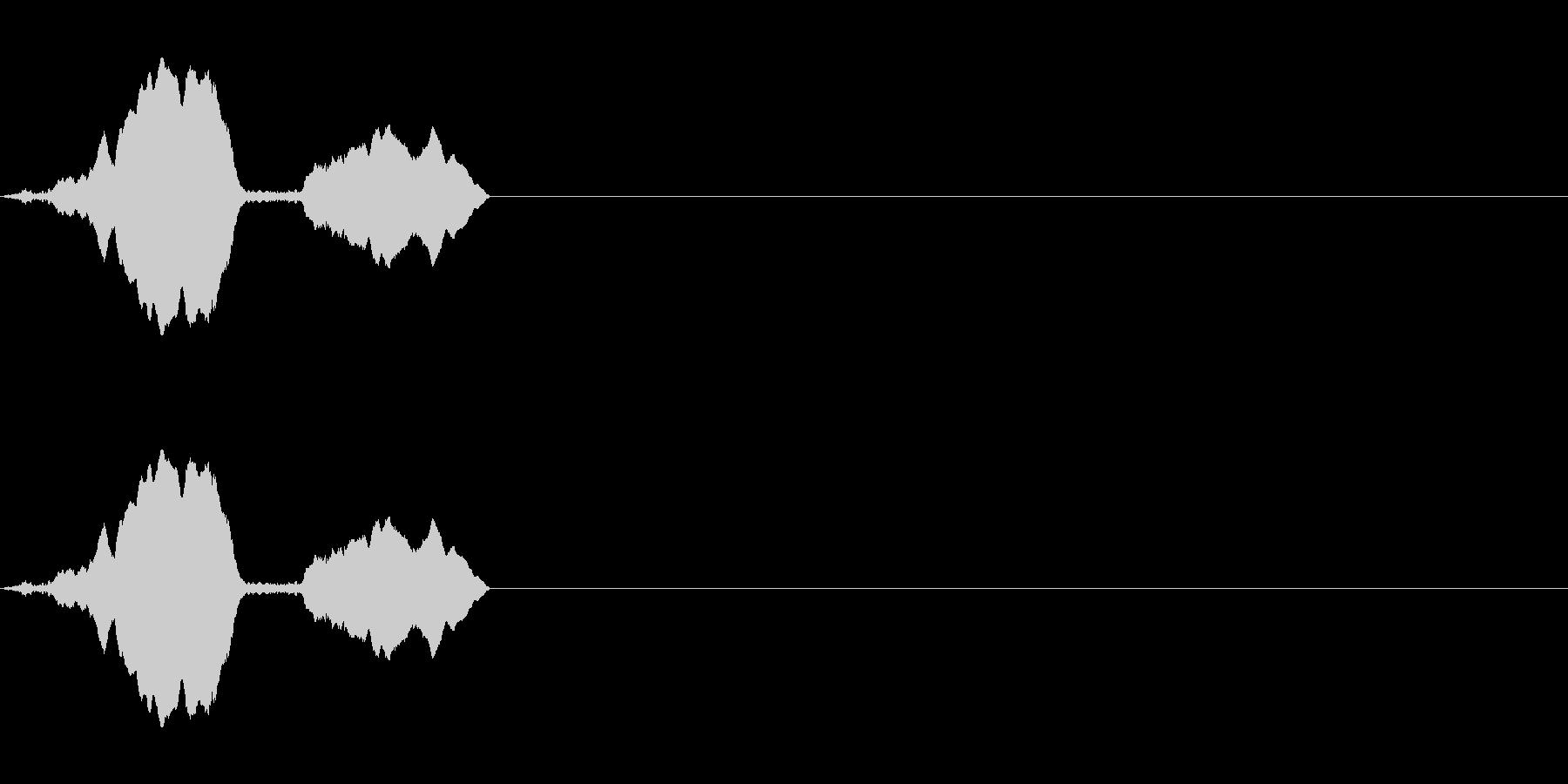 トーンホイッスルエアリーダブルフォールwの未再生の波形