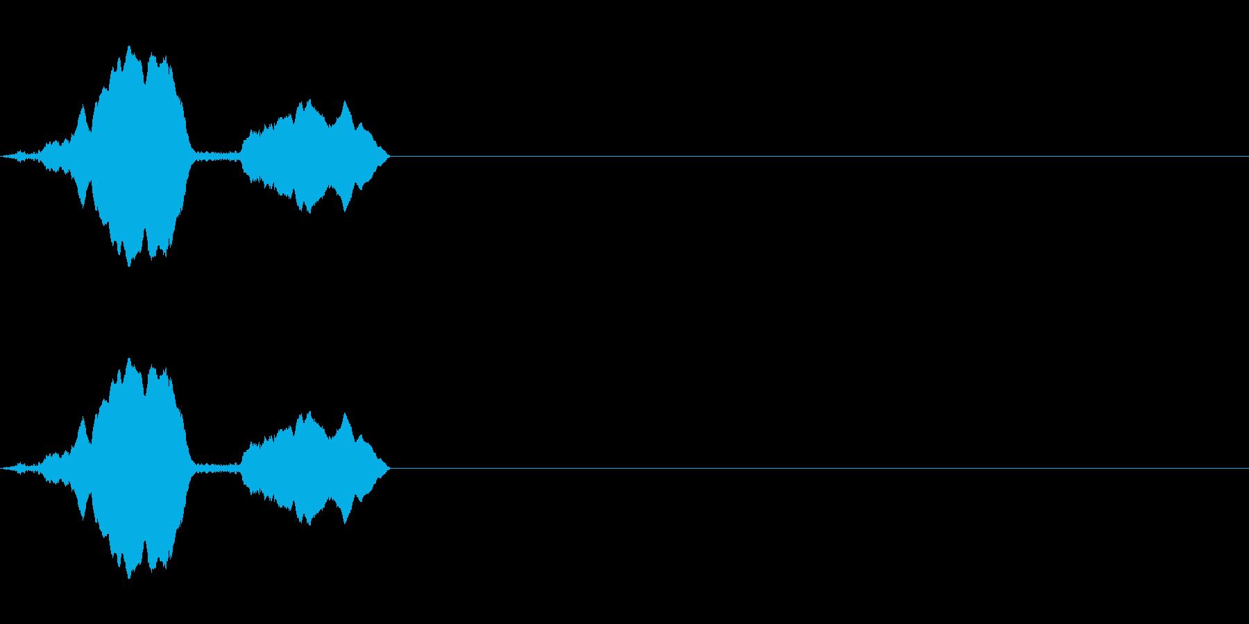トーンホイッスルエアリーダブルフォールwの再生済みの波形
