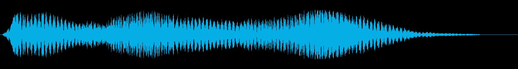 ドューウォーンというジングル向きの音源の再生済みの波形