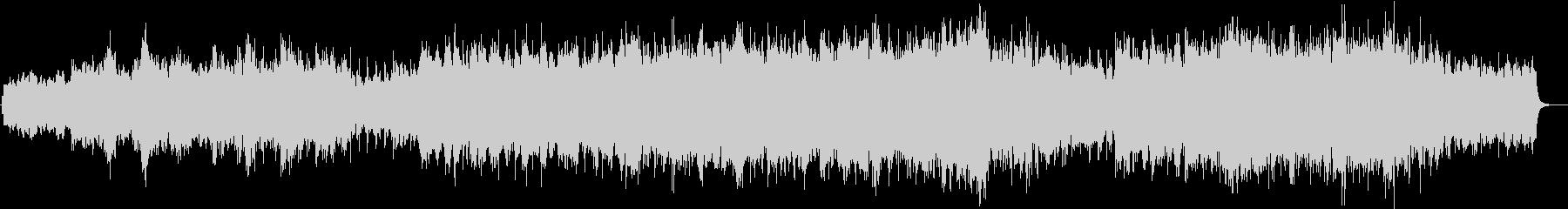 神秘的なピアノBGMの未再生の波形