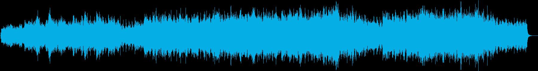 神秘的なピアノBGMの再生済みの波形