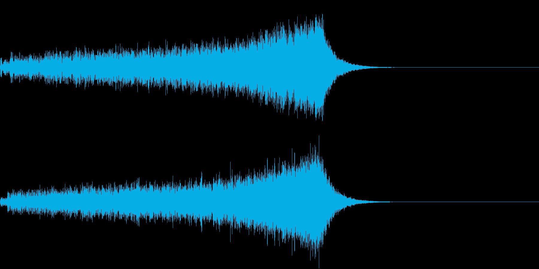 ホラー 近く 接近 恐怖 金属音 14の再生済みの波形