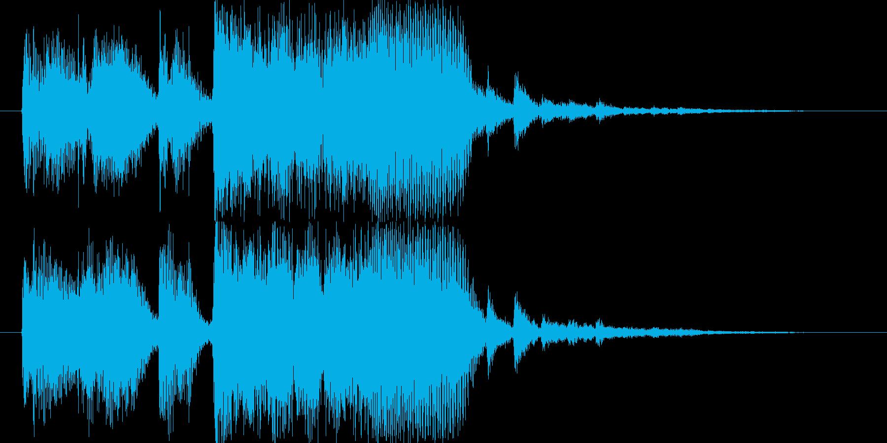 明るくポップなテクノ系SEの再生済みの波形