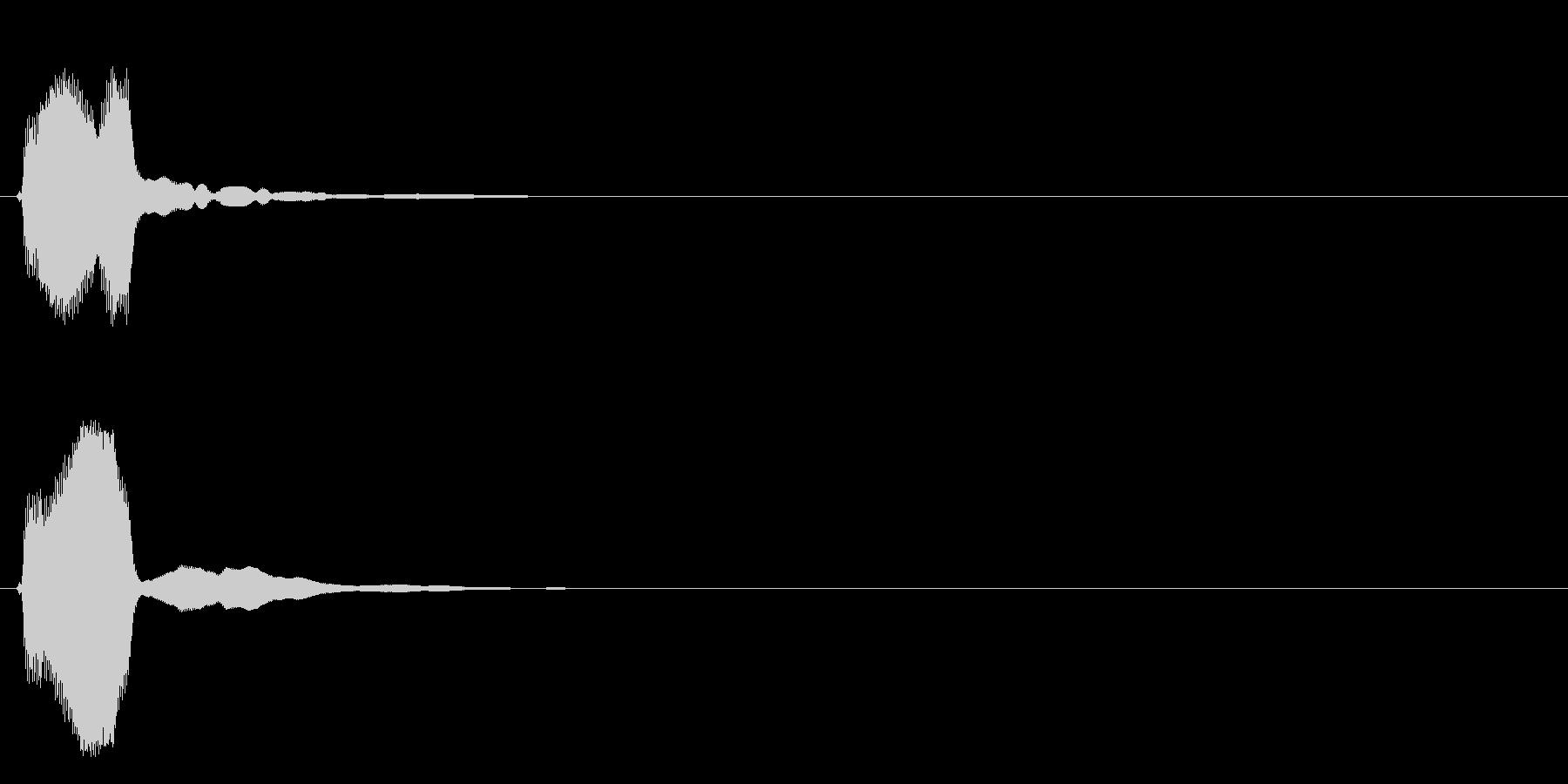 決定音(癖のない電子音)の未再生の波形