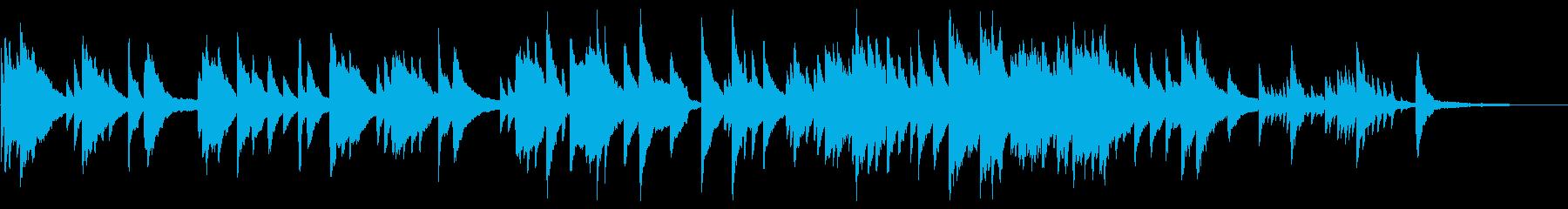 ピアノだけのシンプルBGM、感動系の再生済みの波形