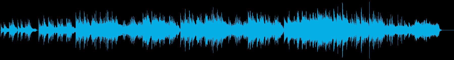 ブライダルなセンチメンタルピアノバラードの再生済みの波形