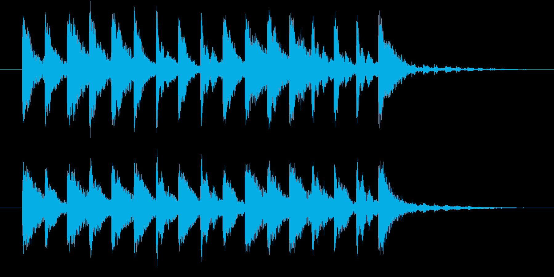 不安をあおるようなジングルの再生済みの波形