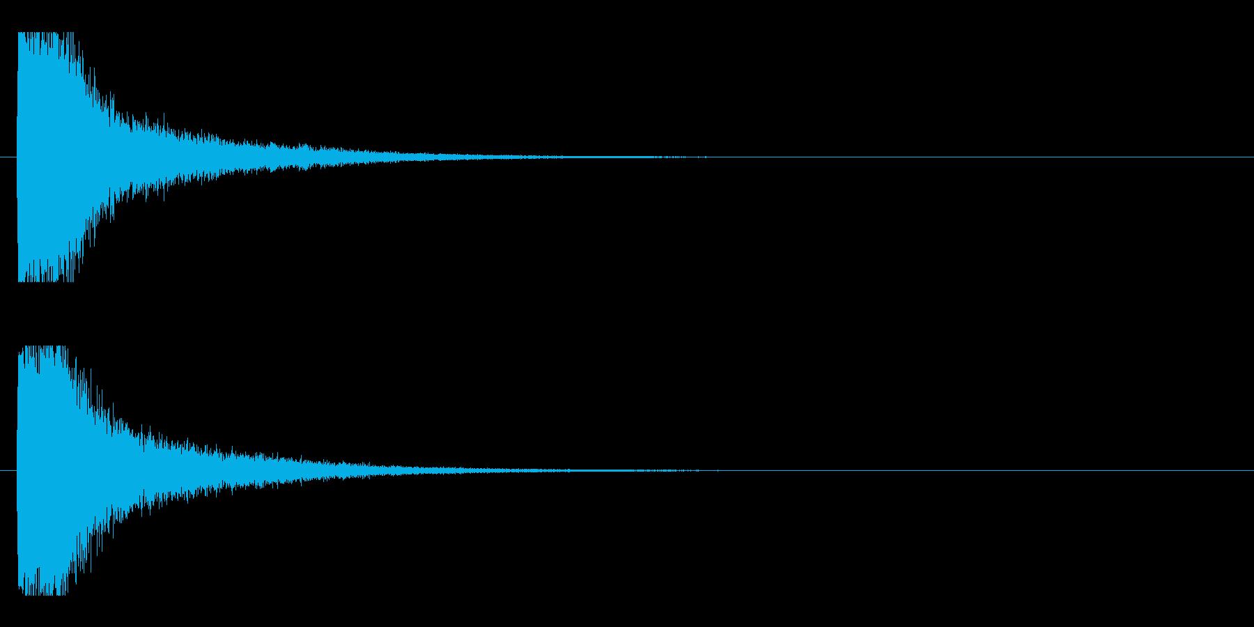レーザー音-13-1の再生済みの波形