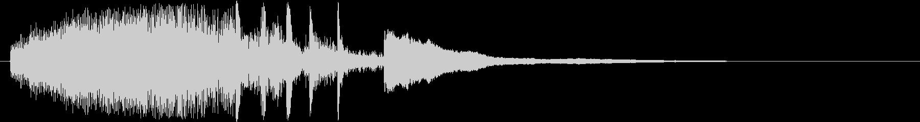 サウンドロゴ、ゲーム、アプリ起動音などにの未再生の波形
