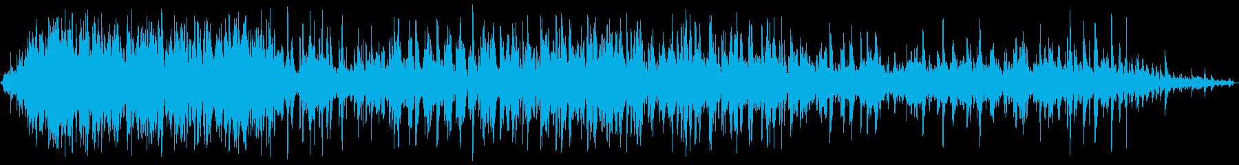 勢いよく水が流れる音の再生済みの波形