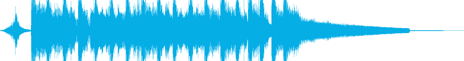 スマートで都会的なテクノジングルの再生済みの波形