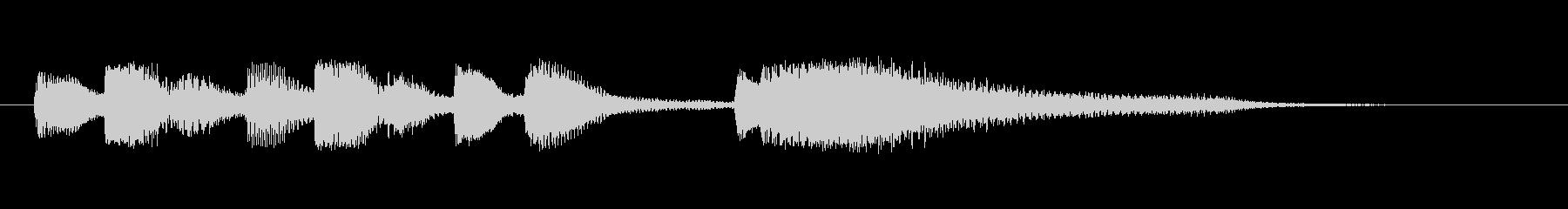 ピアノだけのシンプルな短いジングルです。の未再生の波形