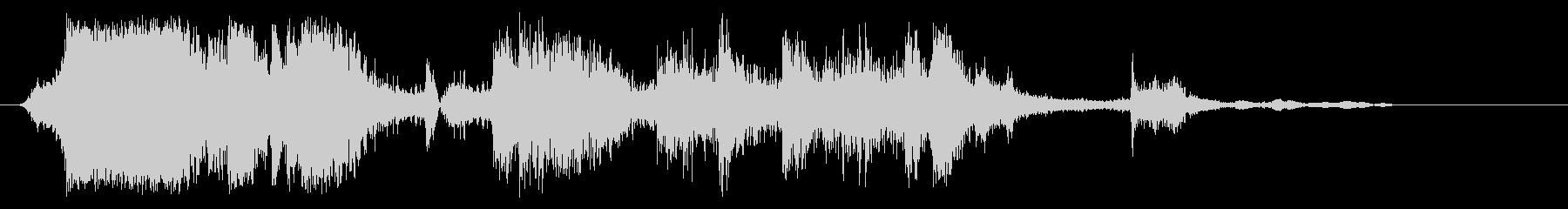 ガシャガシャ(金属音)の未再生の波形
