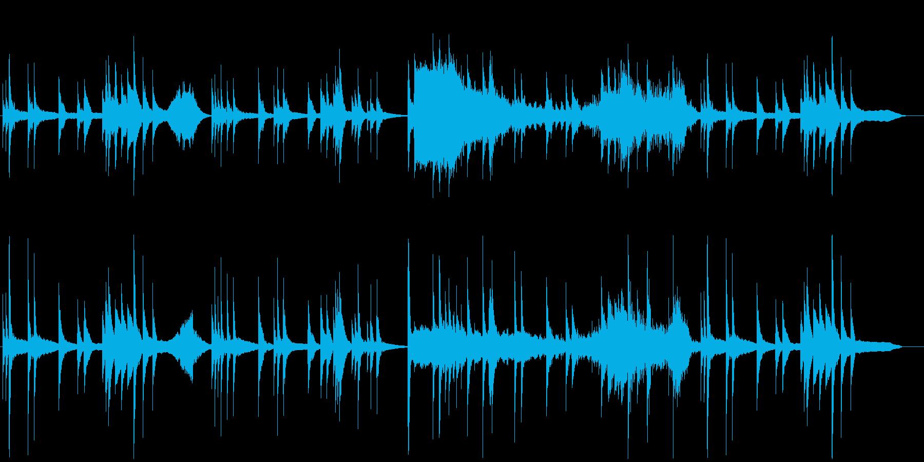 音数が少ない切なく寂しいピアノソロ曲の再生済みの波形