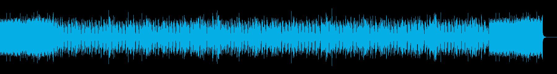 軽快でスタイリッシなエレクトロBGMの再生済みの波形