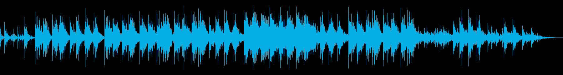 やさしい音色で癒されるメロディーの再生済みの波形