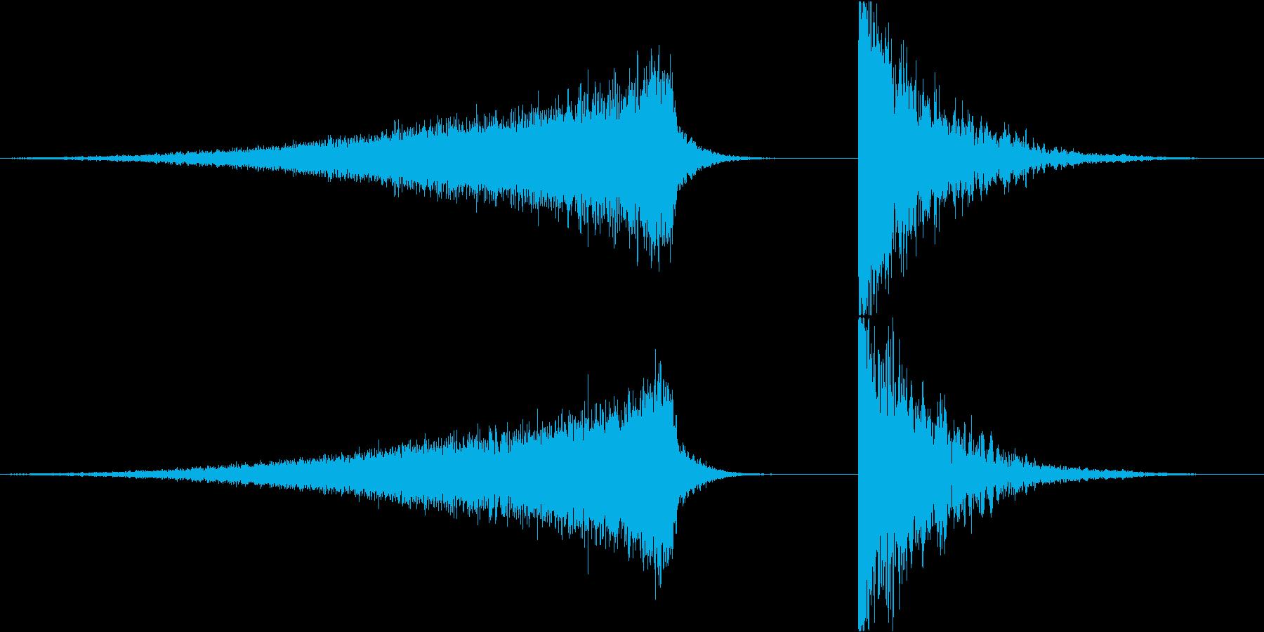 緊張感のあるライザー&インパクト3の再生済みの波形