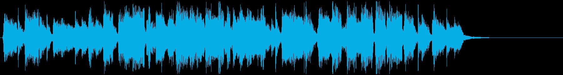 ボーナスステージっぽい疾走感のジングルの再生済みの波形