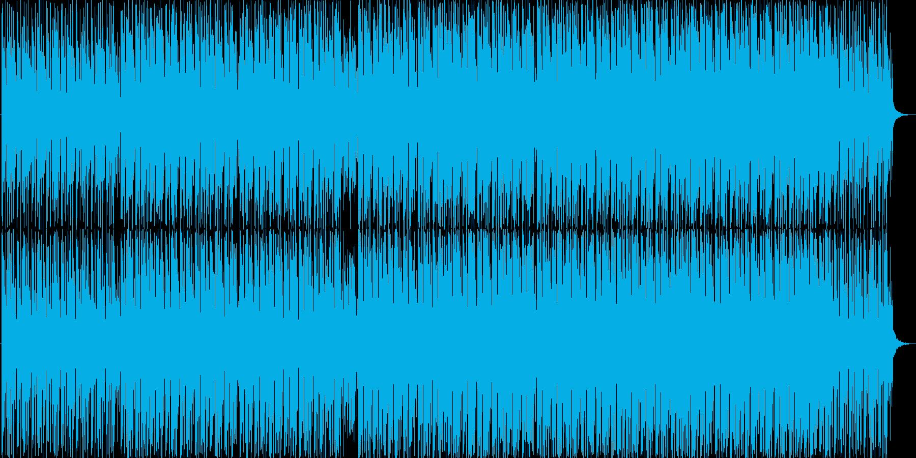 リズムが印象的な曲の再生済みの波形