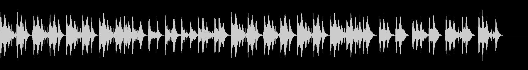 不安や心配を感じさせるオルゴール曲の未再生の波形